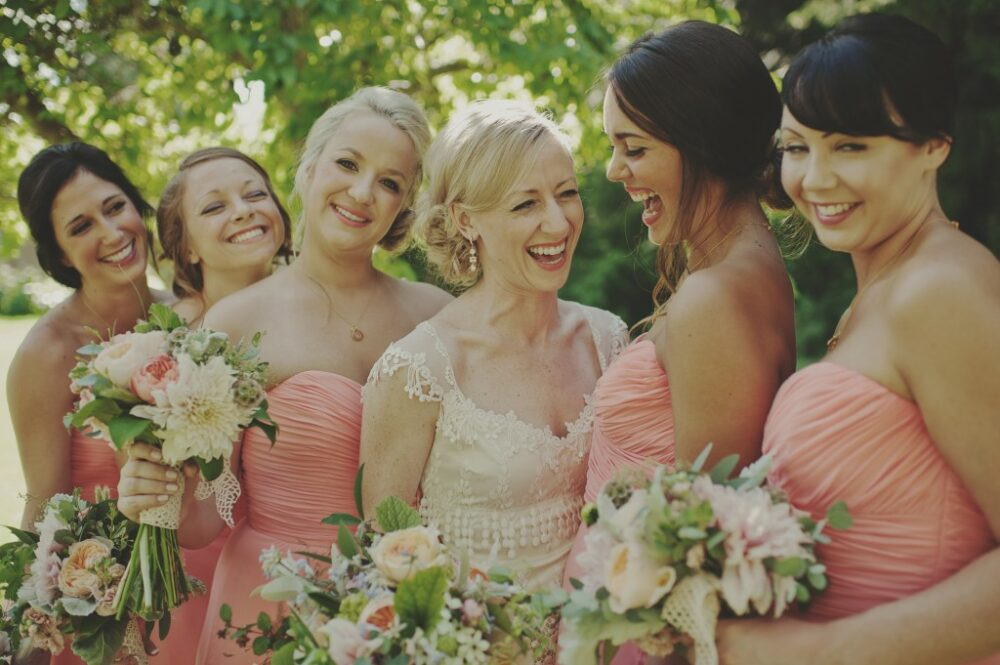 Bride and Bridesmaids Bouquet Farm Kitchen