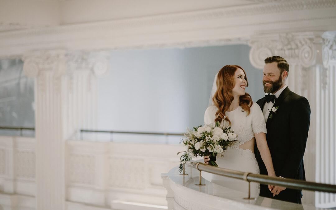Elegant White Wedding in Seattle