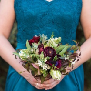 PBF Bridesmaids Bouquet Lakeside Wedding