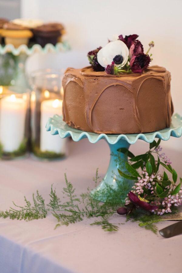 PBF Cake Flowers Lakeside Wedding