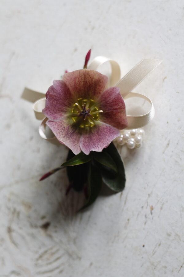 PBF wedding flower wrist corsage