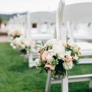 aisle wedding flowers