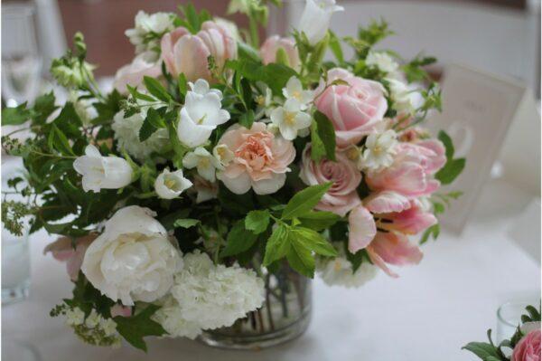 clear glass flower bowl vase