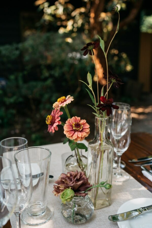 tall apothecary flower vase