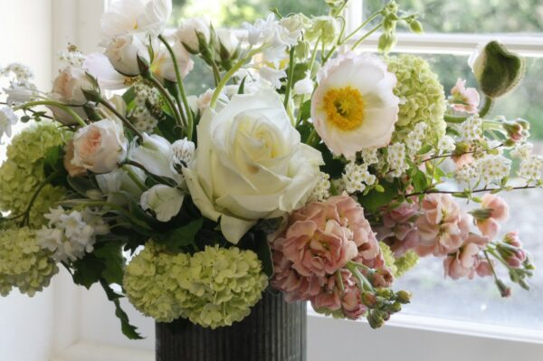 rustic tin flower vase